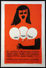 ONE TWO THREE JAMES CAGNEY BILLY WILDER SAUL BASS ART 1961 1 SHEET MOVIE POSTER
