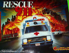 Gottlieb RESCUE 911 Original 1994 NOS Pinball Machine Translite Backglass Art