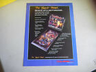 motordome CO STAMPED  STAPLE HOLE PINBALL ARCADE GAME FLYER
