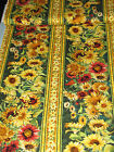 Sunflower Border Stripe Cotton Fabric Flowers Of The Sun 79261 Wilmington 13Yd