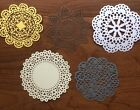 Lot Of 5 Lace Paper Doilies Mixed Designs Scrapbooking