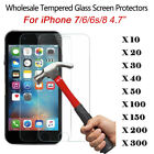LOT 100x Wholesale Tempered Glass Screen Protector Film for iPhone 6s 7 6 8 47
