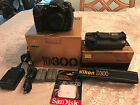 Nikon D D300 123 MP Digital SLR Camera Battery grip and memory card