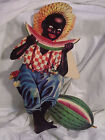 BLACK AMERICANA SHELF SITTER-BOY EATING WATERMELON (CARD BOARD)