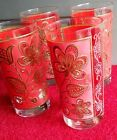 4 Vintage Gay Fad Studios Glasses 24k gold with beautiful floral design!