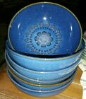 (6) Denby Langley MIDNIGHT Soup Cereal Bowls Made in England vg Condition 6 5/8