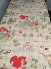 Vintage Twin Fitted Sheet Disney Little Mermaid Sewing Fabric