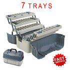 7 Tray Fishing Tackle Box Hooks Lure Gear Organizer Storage Case Hip Roof Plano