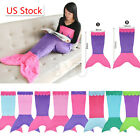 Kids Children Mermaid Tail Fleece Blanket Snuggle in Sleeping Bag Fancy Dress