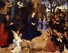 PAINTING VAN DER GOES PORTARINI TRYPTICH MIDDLE PANEL ART PRINT POSTER HP2906