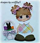 ELITE4U EASTER GIRL paper piecing premade scrapbook page die cut piece WOLFFEY5