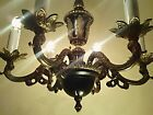 Vintage Hollywood Regency 6-Light French Petite Tole Empire Chandelier