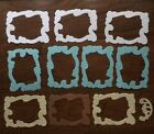 10 Small Paper Embossed Frames Die Cuts For Scrapbooking And Cardmaking