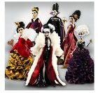 Disney Villians Designer Doll Complete Collection LOT of 6 LIMITED EDITION NIB