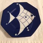 Allegro Fish in Glaze Blue By Fitz & Floyd 8