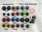 10 Pair Safety Eyes 18mm To 21mm Plastic Choose Size Color Crochet Sew Knit Pe