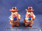 Western Cowboy Sheriff Saloon Keeper Salt  Pepper Shaker Set 16232B14