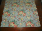 RAYMOND WAITES- PAIR OF CAL KING PILLOWCASES- BLUE COTTAGE FLORAL-COTTON SATEEN