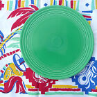Vintage Fiesta Flat Cake Plate Original 1937 Green Many Concentric Rings