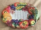 FITZ AND FLOYD Autumn Bounty Harvest Thanksgiving Small Oval Serving Platter