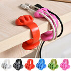 Practical Cable Cord Wire Line Organizer Clips Ties Deak Fixer Fastener Holder