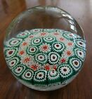 Vintage Fratelli Toso Castle Murano Millefiori Art Glass Paperweight Signed