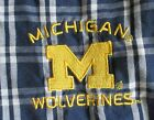 Michigan Wolverines Womens Medium Sleeping Pajama Lounge Capri Pants Blue Plaid