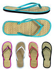 New Ladies Bamboo Flip Flop Sandals Beach Walking Comfort 1212