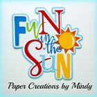 Craftecafe Mindy Summer Fun Sun title premade paper piece scrapbook diecut