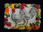 Fitz and Floyd Gardening Gourmet French Hen Rooster Chicken Plaque Plate Classic