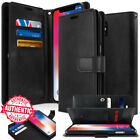 For APPLE iPhone X 8 7 Plus 6s wallet leather Book Flip Card Rugged Case Cover