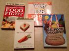 Lot of 4 Weight Loss Diet Books Real Food Biggest Loser Food Fight Overeating