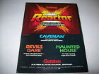 GOTTLIEB TRADE AD FOR DEVILS DARE HAUNTED HOUSE PINBALL MACHINES + REACTOR VIDEO