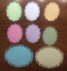 8 Fancy Oval Tags Frames Die Cuts Easter Pastels Scrapbooking And Cardmaking