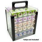 New Heavyweight Poker Chips Set Of 1000 In Acrylic Case Trays Game Card Casino