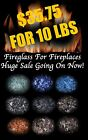 HUGE SALE SPECIAL FIREGLASS Fireplace  Fire Pit Crushed Glass Tempered