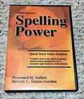 Spelling Power Quick Start Video Seminar DVD Basic Approach Daily Lessons Video