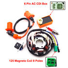 Ignition Coil+AC CDI+Spark Plug+Magneto Stator For GY6 125cc 150cc Moped Scooter
