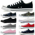 NEW Womens Canvas Sneakers Classic Lace Up Fashion Shoes Colors Sizes5 11