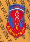 US Army 28th Artillery Regiment 8th Infantry Division ATOMIC pocket patch