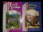 Lot of 2 Abeka Fourth 4th Grade Readers Trails to Explore and Liberty Tree