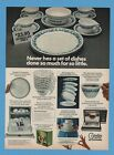 1974 Corelle Livingware dinnerware Corning Glass ad Never Break Promise