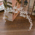 Vintage Wedding Bridal Crystal Flower Crown Tiara Hair Accessories Headband Prom