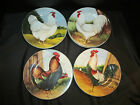 David Carter Brown Sakura On the Farm Rooster Theme Plates Set of 8