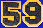 CHENILLE PATCH BLUE YELLOW GOLD NUMBER 1959 59 NOTRE DAME CAL USNA NAVY MICHIGAN