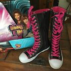 Disney Shake It Up Knee High Sneaker Boot Shoes Sz 3 Awesome