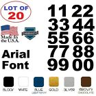 Lot of 20 WhiteBlack Vinyl Street AddressMailbox Number Decal Stickers ARIAL