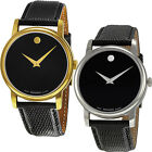 Movado Museum Leather Strap Watch | Choose Mens or Womens