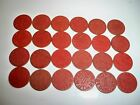Vintage Lot of 24 OPA RED Point Token War Ration WW2