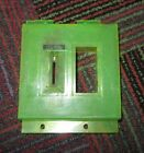 ROWE AMI CD100E CD100 JUKEBOX GREEN COIN ENTRY & REJECT BUTTON BEZEL / TRIM, AUC